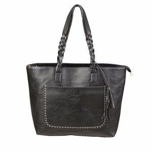 Luxury Leather Handbag Black