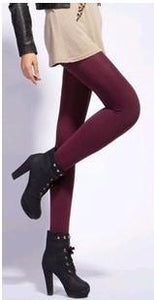 Velvet Leggings Red / S