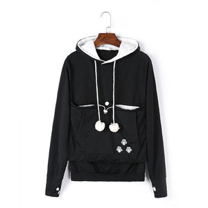 Carry Your Cat Everywhere! - Hoodie Black / S