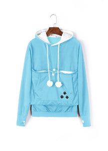 Carry Your Cat Everywhere! - Hoodie Sky Blue / S