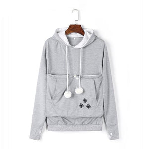 Carry Your Cat Everywhere! - Hoodie Gray / S