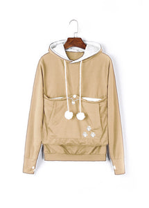 Carry Your Cat Everywhere! - Hoodie Khaki / S