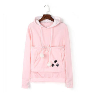 Carry Your Cat Everywhere! - Hoodie Pink / S