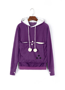 Carry Your Cat Everywhere! - Hoodie Purple / S