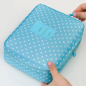 Makeup & Cosmetic Organizer Bag Spotty Blue