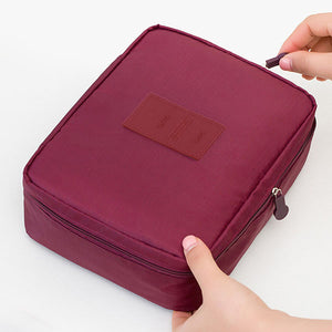 Makeup & Cosmetic Organizer Bag Wine Red