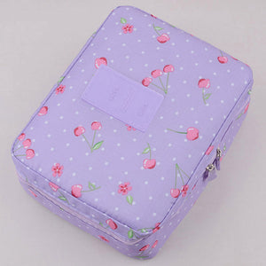 Makeup & Cosmetic Organizer Bag Purple Cherry