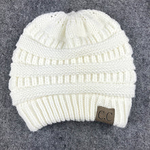 Soft Knit Beanie Tail White