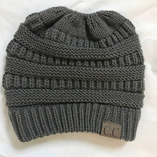 Soft Knit Beanie Tail Dark Grey