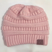 Soft Knit Beanie Tail Pink