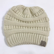 Soft Knit Beanie Tail Beige