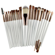 20Pcs Professional Makeup Brush Set Coffee And White