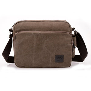 Multifunction Canvas Messenger Bag Coffee