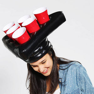 Inflatable Beer Pong Hat for Floating Pong Game