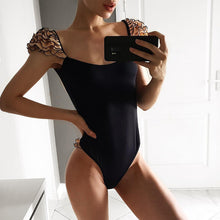 Black Bikini & Swimsuit with Shoulder Details