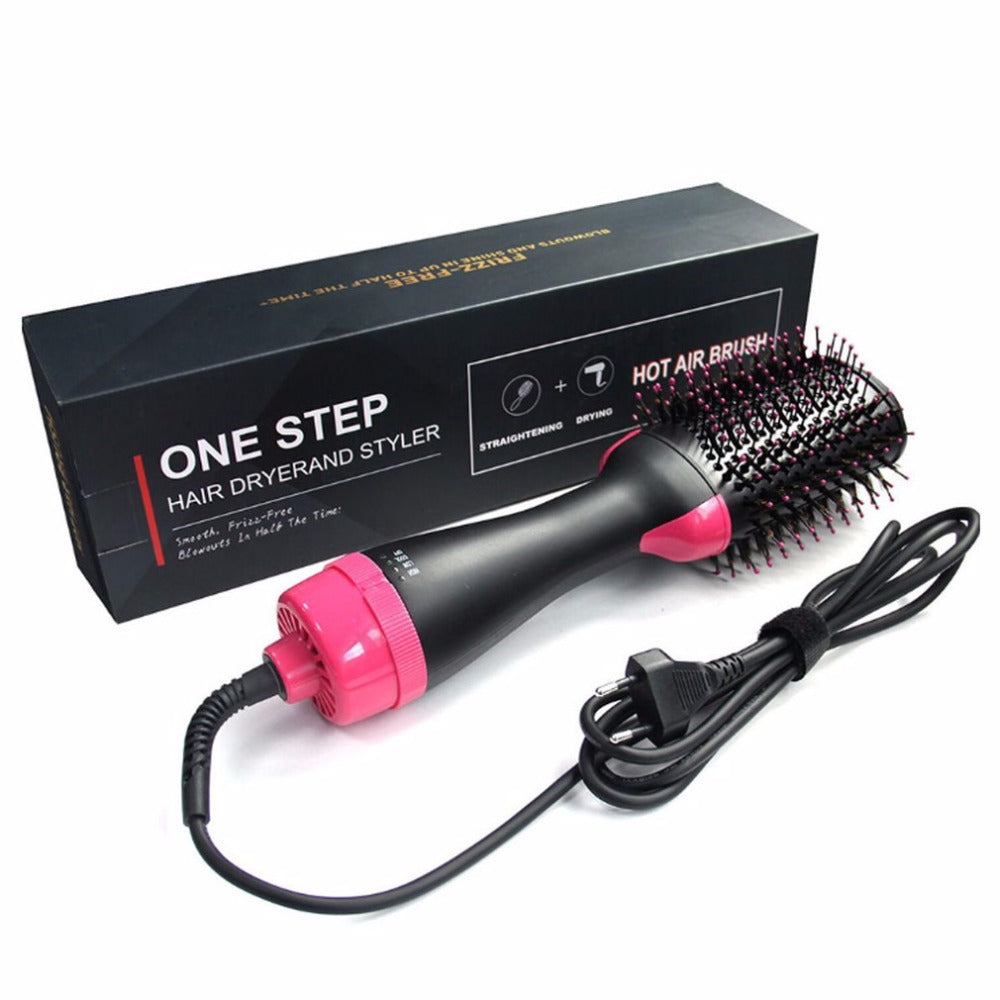 One Step Hair Dryer & Volumizer, Hot Air Brush - Negative Ion Generator - Hair Straightener Curler Brush for All Hairstyle