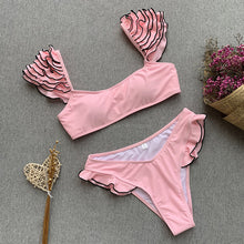 Pink Bikini & Swimsuit with Shoulder Details