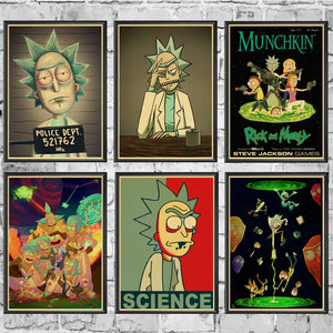 Vintage Cartoon Poster - Rick And Morty