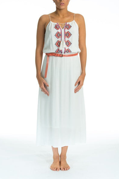 SOLITARE - MIDI MAXI DRESS WITH STRING STRAPS - TheSwankStore - 1