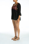 BORDRUM - Tunic Top in Black - TheSwankStore - 2