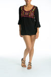 BORDRUM - Tunic Top in Black - TheSwankStore - 4