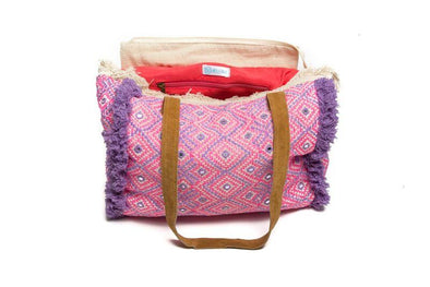 HANDBAGS - NEON PINK & PURPLE