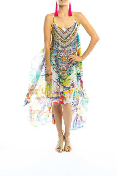 ELYSIAN COLLECTION - Overlay Dress with Flowing Cape