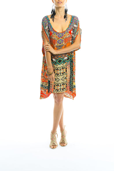 NEGRONI COLLECTION -  Kaftan Tunic Top (Longer Style)