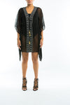 BODERIUM - SHEER KAFTAN COVER UP - BLACK - TheSwankStore - 6