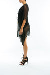 BODERIUM - SHEER KAFTAN COVER UP - BLACK - TheSwankStore - 4