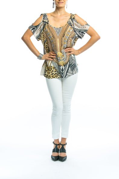 BELLAGIO COLLECTION - COLD SHOULDER TOP