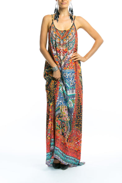 SEVILLIA COLLECTION - MAXI DRESS WITH ADJUSTABLE STRAPS