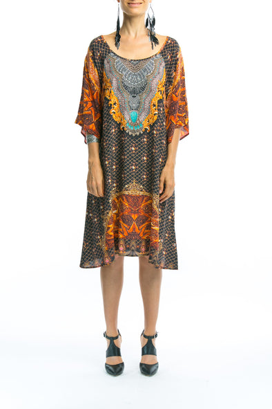 BAROQUE COLLECTION - SLIT SLEEVE DRESS