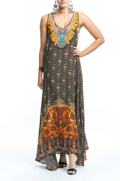 BAROQUE COLLECTION - SLEEVELESS MAXI DRESS