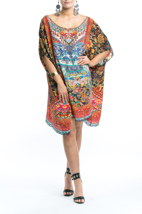 SEVILLIA COLLECTION - SHORT BOX KAFTAN