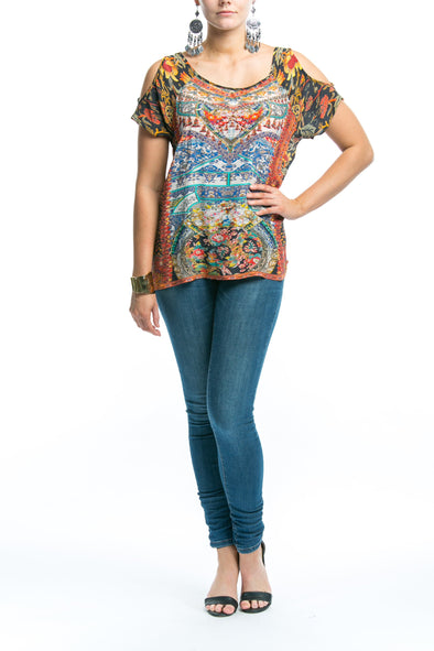 SEVILLIA COLLECTION - COLD SHOULDER TOP