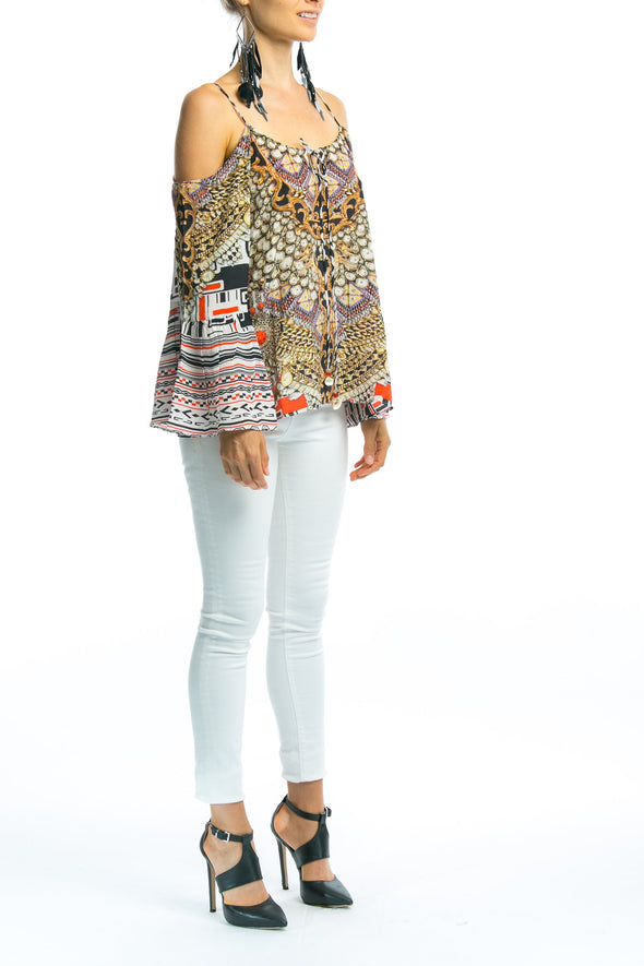 IKOZIAN COLLECTION - GYPSY TUNIC TOP