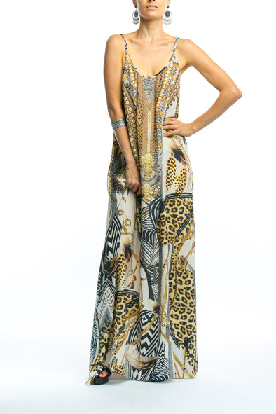BELLAGIO COLLECTION - MAXI DRESS WITH ADJUSTABLE STRAPS