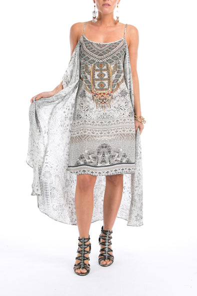 BLANCO LaNEVE - Overlay Dress with Flowing Cape