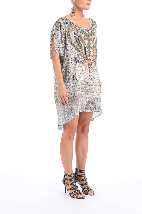 BLANCO LaNEVE -  Kaftan Tunic Top (Longer Style)
