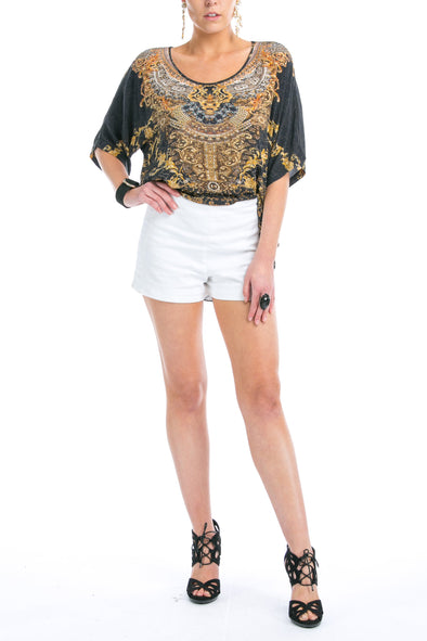 VALLETTA COLLECTION - KAFTAN TOP (Shorter Style)