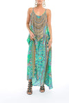 EMERALD FOREST - MAXI DRESS WITH ADJUSTABLE STRAPS