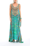 EMERALD FOREST - SLEEVELESS MAXI DRESS