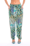 MARRAKESH COLLECTION - SILK EMBELLISHED TROUSERS