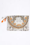 HANDBAGS - BLANCO LaNEVE CANVASS CLUTCH WITH CRYSTALS