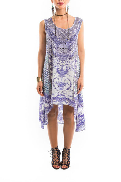 CHYNA BLUE - Hi-Lo Midi Dress