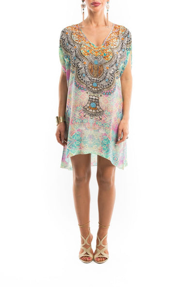 SEYCHELLES COLLECTION -  Kaftan Tunic Top (Longer Style)