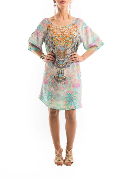 SEYCHELLES COLLECTION - SLIT SLEEVE DRESS