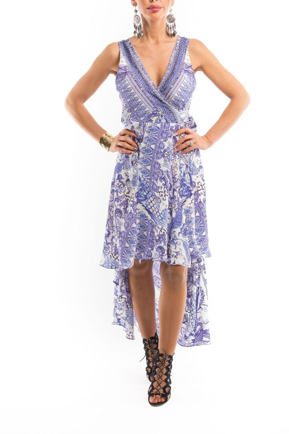CHYNA BLUE COLLECTION - Wrap Dress