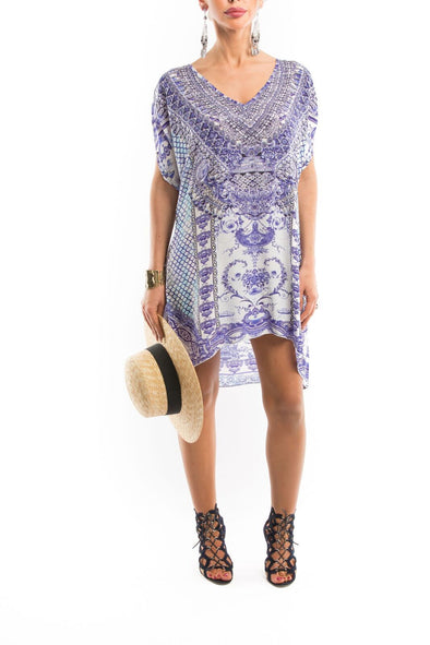 CHYNA BLUE COLLECTION -  Kaftan Tunic Top (Longer Style)